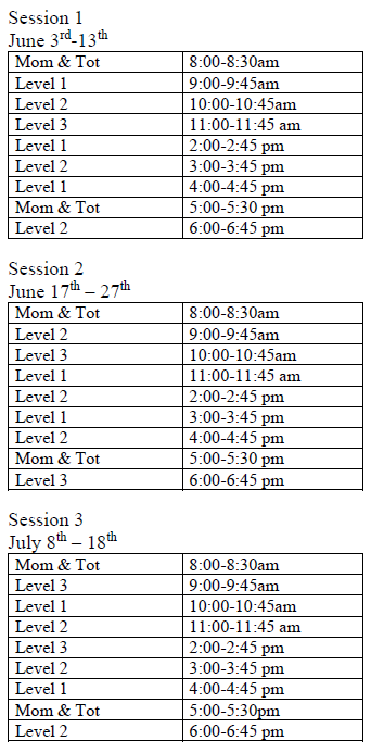 2019-swim-lesson-schedule