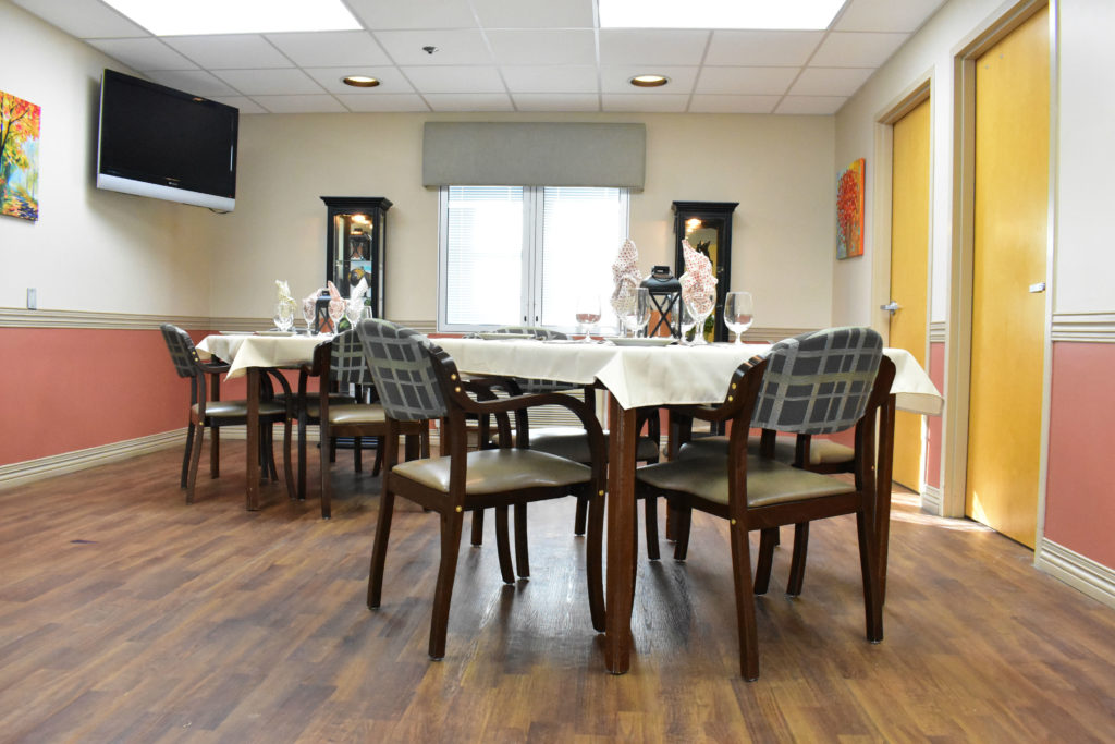 Dining Room Accessible only to Short Stay Rehab patients and their families S
